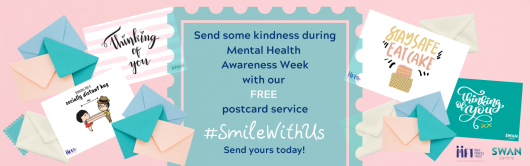 Smile with us postcard campaign
