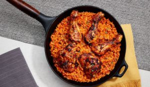 West African-style jollof rice with chicken